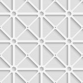 White Triangular Net With Shadow Tile Ornament
