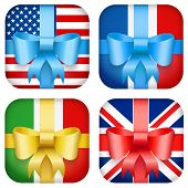 set of Vector Design national Gift Icon for Web and Mobile