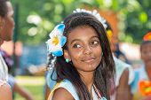 Victoria, Seychelles - April 26, 2014:young Creole Women At The Carnaval International De Victoria I