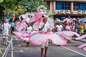 Victoria, Seychelles - April 26, 2014:  At The Carnival International De Victoria In Seychelles