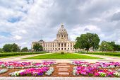 image of capitol building  - Minnesota State Capitol Building in St. Paul Minnesota USA