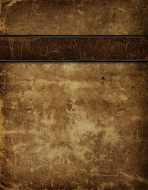 stock photo of leather-bound  - An old bound - JPG