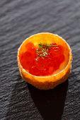 canape wit caviar