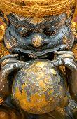 Rahu the name of Thai and India god, The black giant eating the moon.