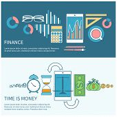Time is money and finance concept