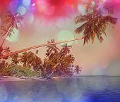 Serenity tropical beach