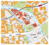 Map Of The Berlin Museum Island