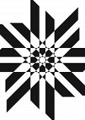 Abstract Black And White Illustration