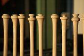 Baseball Bats In Window Of Wood Shop