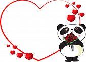 panda with border frame