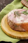 homemade roast pork carbonate with rosemary and black pepper
