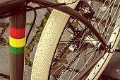 Vintage Look At One Bicycle Detail