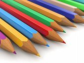 Colored pencils (clipping path included)