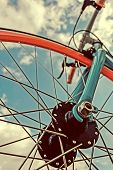 Vintage Look At One Bicycle Detail
