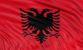 3D Albanian flag