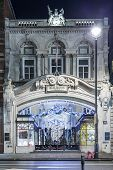 London, England - 13 November 2014 Burlington arcade shops at Picadilly Street, decorated Christmas