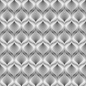 Design Seamless Monochrome Mosaic Pattern