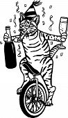 Party Cat on a Unicycle