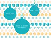 Vector texture circles stripes abstract Christmas ornaments silhouettes pattern frame card template