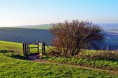 Public footpath and gate on the Southdown's.
