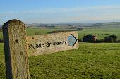 Public bridleway sign.