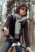 Beautiful woman cyclist