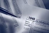 Tax Form, Operating Budget And Pen