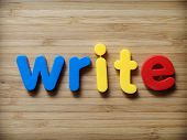 Write Or Writing Concept