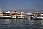 Izmir / Turkey - November 15, 2014 : Izmir Passenger Ferries Parking At Bostanli Jetty On November 1