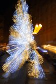 Motion Light Abstract Christmas Tree