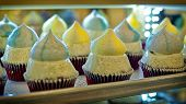 Rows Of Cupcakes On The Storefront