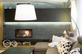 Designed Lamp In Living Room