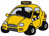 Funny yellow taxi