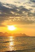 Sunrise Above Sea