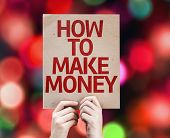 How To Make Money card with colorful background with defocused lights