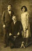 GERMANY, CIRCA 1930s- vintage photo of father with daughter and son