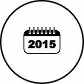 2015 calendar symbol