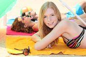 Sunbathing teen
