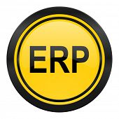erp icon, yellow logo,