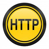http icon, yellow logo,