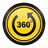 panorama icon, yellow logo,