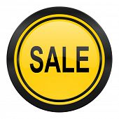 sale icon, yellow logo,