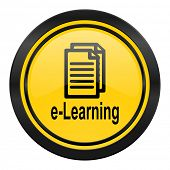 learning icon, yellow logo,