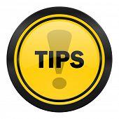 tips icon, yellow logo,