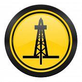 drilling icon, yellow logo,