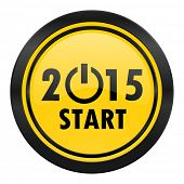 new year 2015 icon, yellow logo, new years symbol