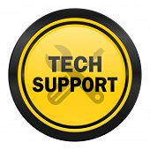 technical support icon, yellow logo,