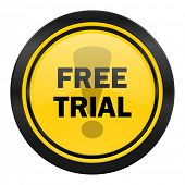 free trial icon, yellow logo,