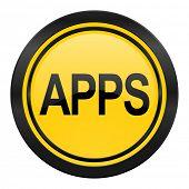 apps icon, yellow logo,