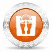 weight orange icon, christmas button